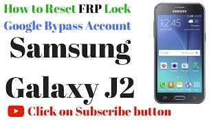 Samsung Galaxy J2 FRP Lock remove done in Miracle box by GsmHelpFul