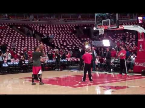 Derrick Rose Practices Shooting Pregame 5.13.13 video