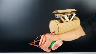 How to build Spy Gun from Cardboard - DIY Missile Launcher Toy