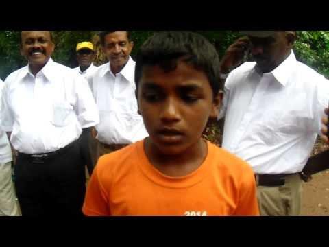 Sri Lankan Weddah Boy singing a traditional prayer