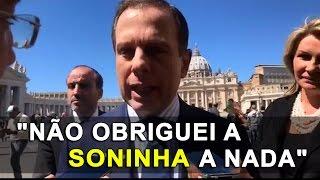 João Doria fala sobre a polêmica após a demissão de Soninha Francine da Secretaria de SP