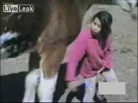GIRL BITTEN BY A HORSE PWNED!