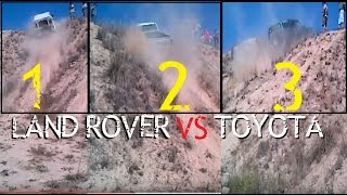 Land Rover Defender vs Toyota Hilux vs Discovery @ Hill Climb
