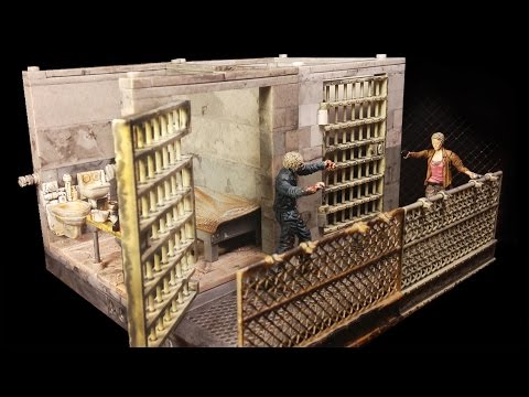 The Walking Dead Upper Prison Cell Building Set Review