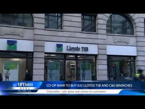Co-Op Bank to buy 632 Lloyds TSB and C&G branches