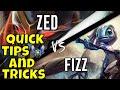 Zed Vs Fizz Mid Quick Tips And Tricks League Of Legends Season 8 mp3
