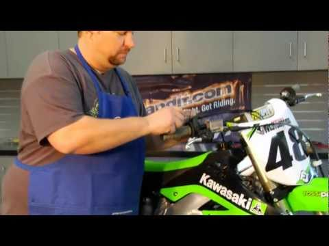 Dirt Bike Grip Installation
