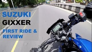 Suzuki Gixxer 2017- First Ride and Full Review | RACING BLUE