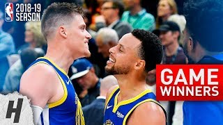 NBA GAME-WINNERS Compilation | 2018-19 NBA Season - Part 1