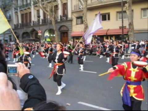 "Desfile Nikkei Bicentenario Argentina 2010 - Matsuri Daiko ( ""Mirukumunari"")"