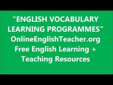 English Vocabulary Learning Programmes