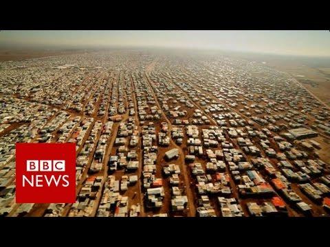 'No-man's land' between Syria & Jordan - BBC News