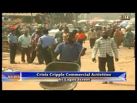 Crises cripple commercial activities at Lagos street
