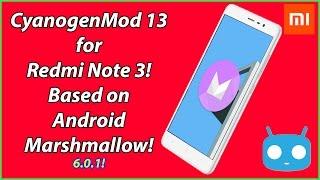 STABLE CyanogenMod 13 for Redmi Note 3 with working Fingerprint sensor!