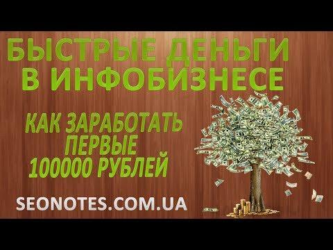 Быстрые деньги в инфобизнесе, как заработать первые 1000$ в месяц (личная история)