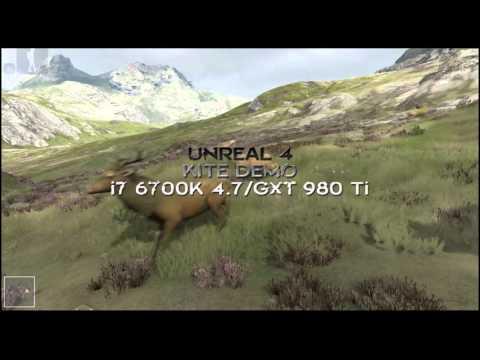 UNREAL 4 ENGINE DEMO – Exploring KITE DEMO / 1440p. i7 6700K 4.7 Ghz. GTX 980 Ti