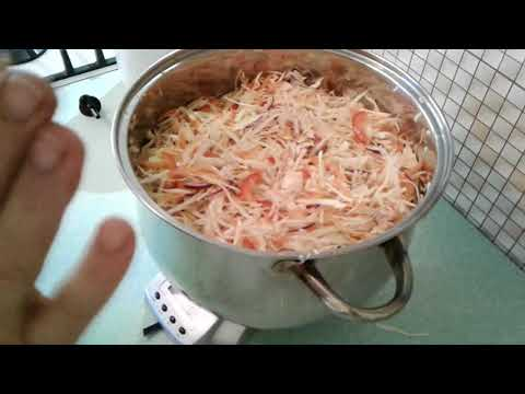 Салат из капусты с болгарским перцем в маринаде