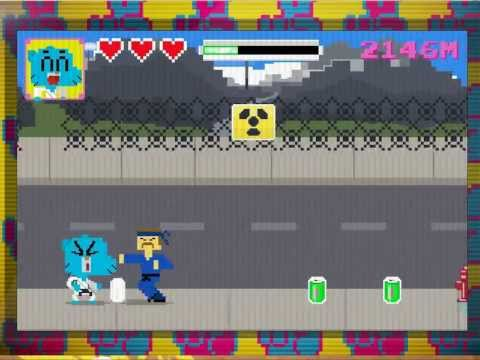 The Amazing World of Gumball: Suburban Karate Master - 12,754 High Score!