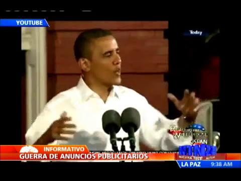 Gran número de anuncios publicitarios por parte de las campañas electorales de Obama y Romney
