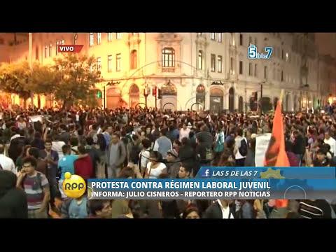 Protesta contra el régimen laboral juvenil│RPP