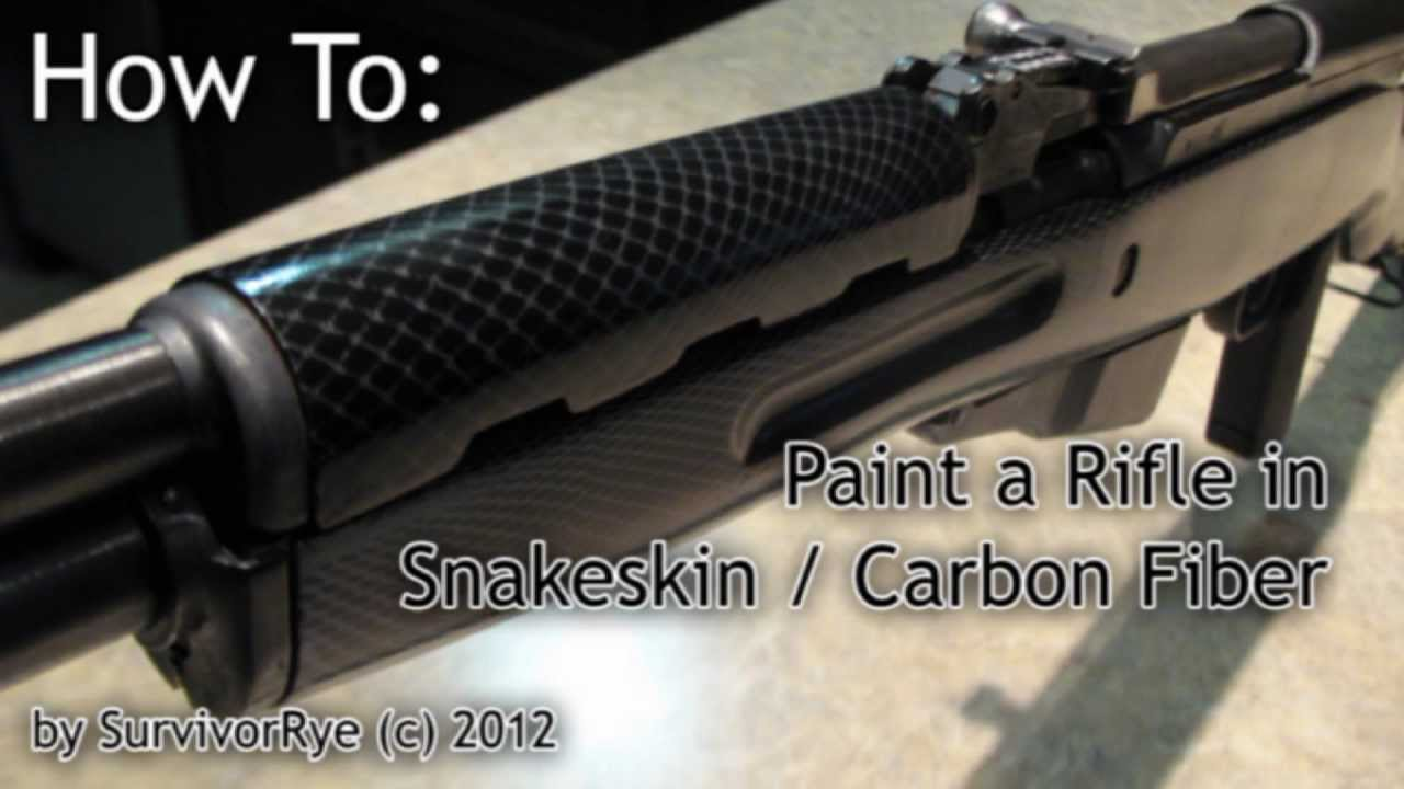 how to paint a rifle stock snake skin carbon fiber camouflage youtube. Black Bedroom Furniture Sets. Home Design Ideas