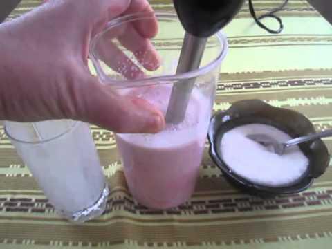 Молочный Коктейль с Клубникой (Dessert. Vegetarianism)