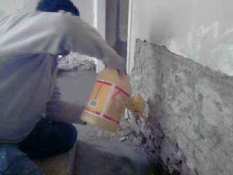 Impermeabilizacion muro de 15 youtube - Como quitar humedad de la pared ...