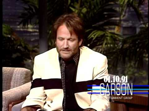 "Robin Williams Promotes ""Awakenings"" on ""The Tonight Show Starring Johnny Carson"" - 1991"