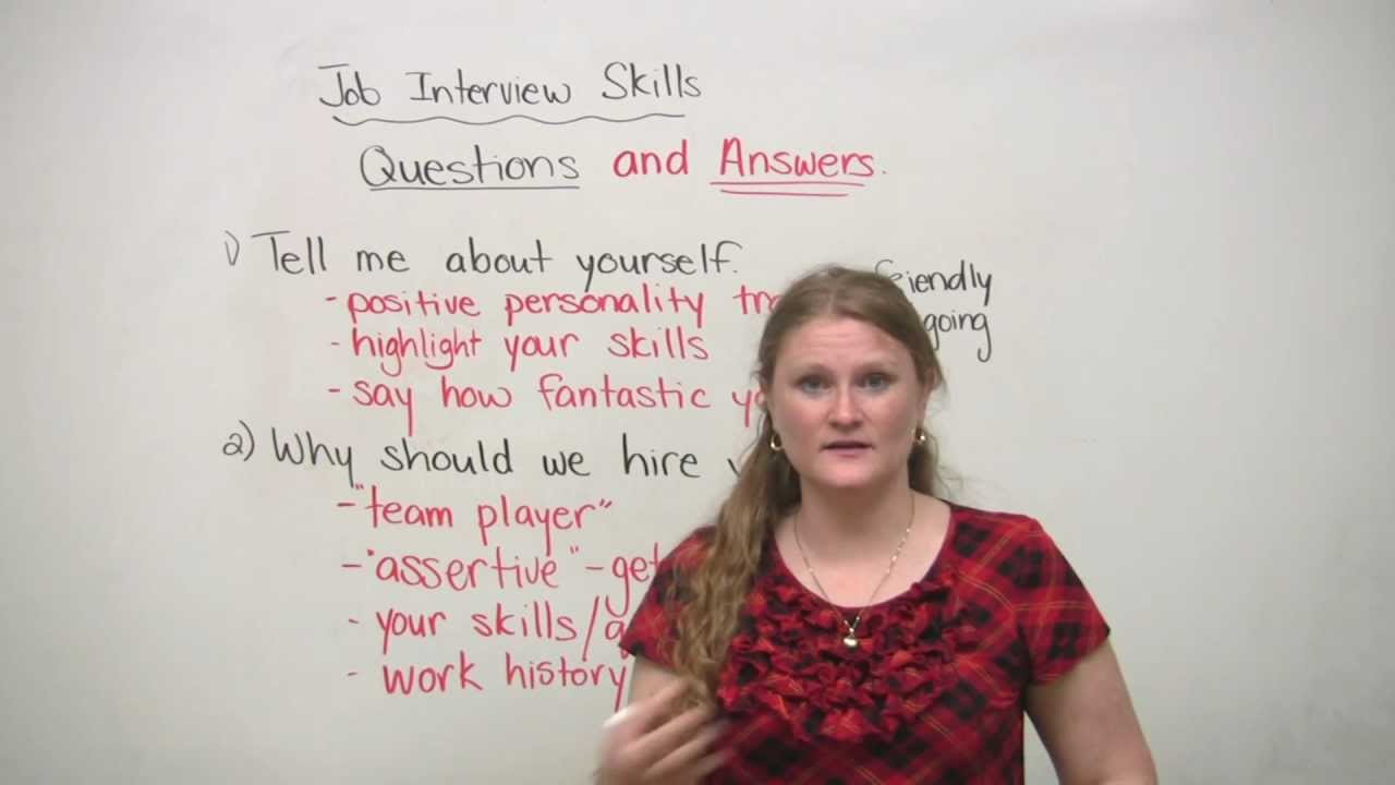 Job Interview Skills Questions And Answers Youtube