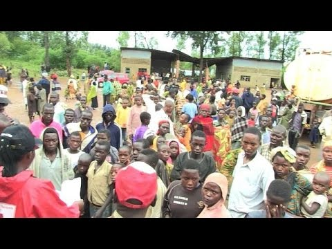 Influx of refugees to Rwanda from neighbouring Burundi
