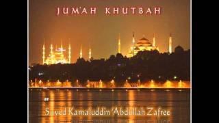 Jum'ah Khutbah By Shaykh Kamaluddin Zafree