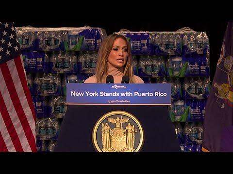 NY Gov., Jennifer Lopez Pledge Puerto Rico Aid