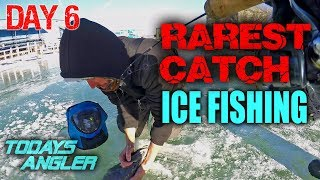 RAREST CATCH Ice Fishing 20 Day Challenge Day 6 - WHAT IS IT?? - Todays Angler