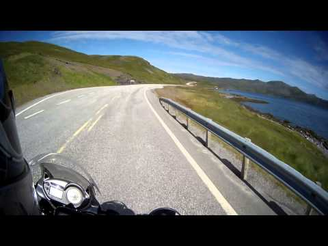 Ride to Nordkapp / The North Cape on the motorbike (last 68 km)