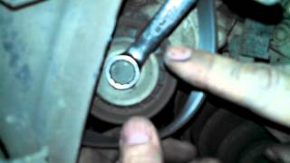 Serpentine belt replacement 2003 Mazda 6 2.3L Install remove replace how to change