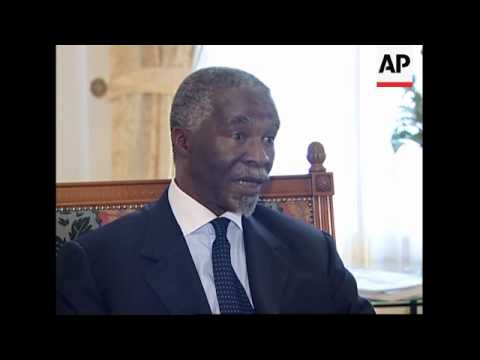 SAfrican president interview on Iran, AIDS and troops in Darfur