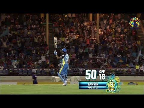 Sohail Tanvir's stunning 18 ball Fifty!!CPL 2018