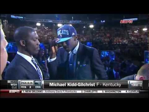 Michael Kidd-Gilchrist Drafted 2nd by the Charlotte Bobcats (6-28-2012)