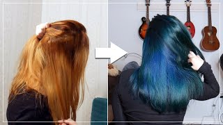 Fixing Unevenly Bleached Hair - Dying it BLUE