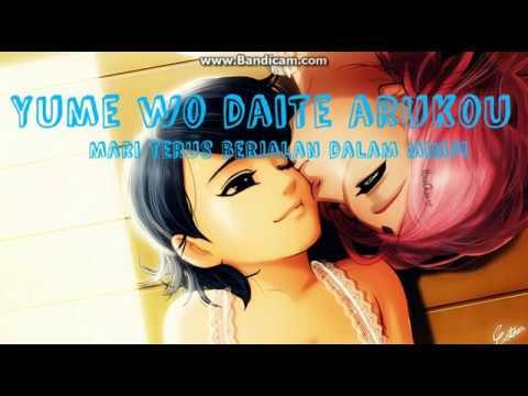 Naruto Ending 26 (Yume O Daite By Rake) Lyrics And Sub Indo