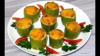 Кабачки Фаршированные Овощами и Сыром Запеченные Кабачки Рецепты