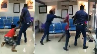 MIDLAND ASSAULT:NANA ADDO PUNCHES THE   POLICE WHO BEATS THE WOMAN
