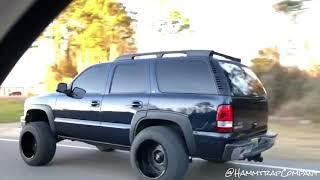 SQUATED Tahoe on 20x14's and 35's!