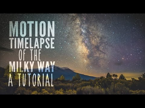 Tutorial: Motion Timelapse of the Milky Way with Dynamic Perception Stage One and R