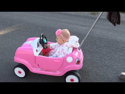 Our Baby Loves Her New Radio Flyer Steer & Stroll Coupe Ride-On