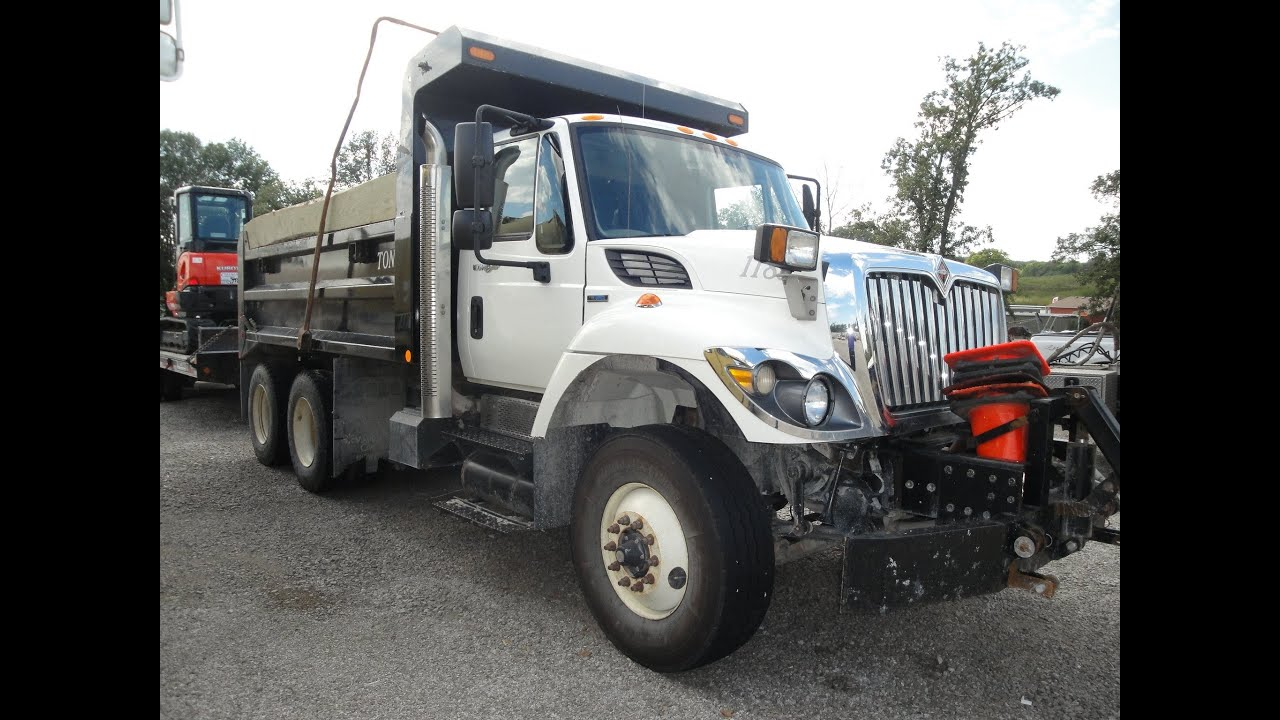 Freightliner Trucks For Sale >> 2009 International 7500 Dump Truck - Plow Truck For Sale ...