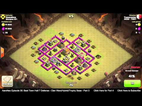 BEST Town Hall Level 7 (TH7) Defense Strategy - Clan Wars/Hybrid/Trophy Base (Clash of Clans) Part 3