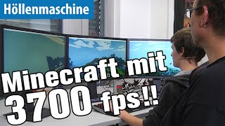 Minecraft mit 3700 fps und in 4K und 12K auf der Höllenmaschine UVR | deutsch / german