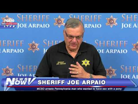 New details and Arpaio press conference on man allegedly wanting sex with horse