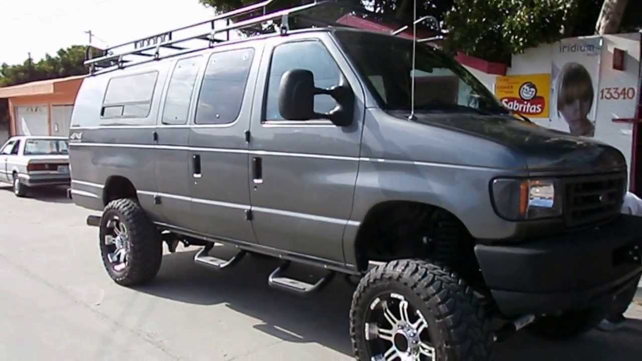 1995 Ford E 350 Diesel Van 4x4 Lifted On 35 Quot S Youtube